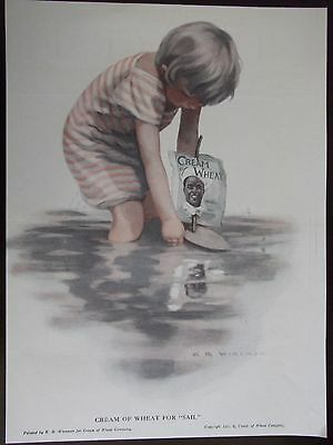 """Original 1919 Cream Of Wheat for """"Sail"""" Advertisement by K R Wireman"""