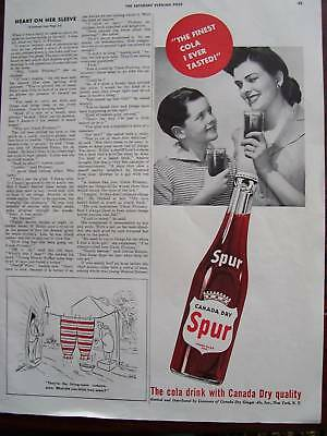 1943 Canada Dry Spur Cola Advertisement