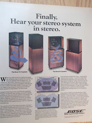 1985 Bose Point Two Listening System 8.2 and 10.2 Advertisement
