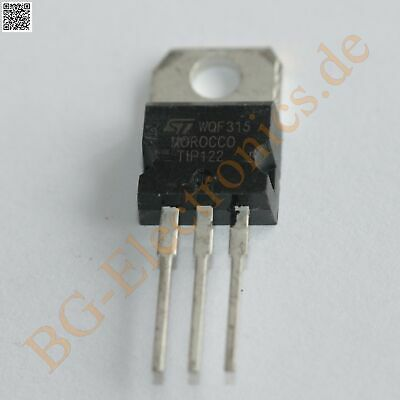 5 x TIP122 & TIP127 10 complementary transistors 65W 100V 100V 5A ST TO-220 10pc