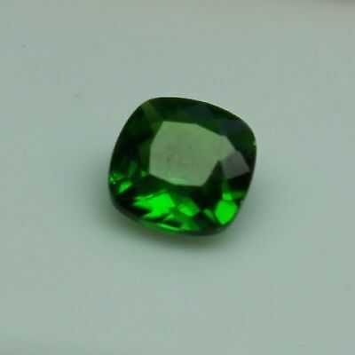 Chrome Diopside 5X5mm  0.55 TCW Faceted Cushion Loose Gemstone