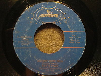 "45 RPM 7"" Record Patti Page Mockin' Bird Hill & I Went To Your Wedding C30026X45"