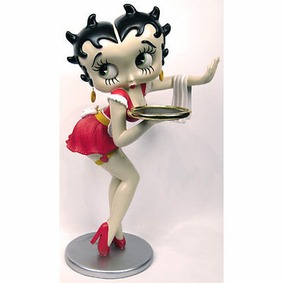 Extremely Rare! Betty Boop as Waitress Red Dress Lifesize Figurine Statue