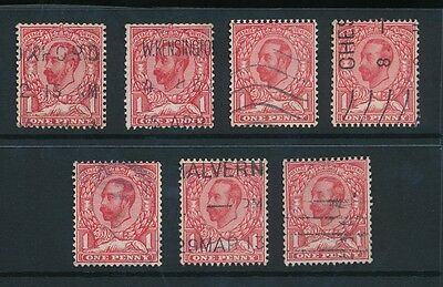 GB KG5 DOWNEY HEADS SG336-7 FINE USED UPRIGHT WATERMARK...7 stamps...cv £210