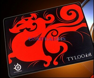 Red TYLOO SteelSeries QcK Gaming Mouse Pad Mat Medium M Size 320*240*3MM New