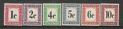 SOUTH AFRICA....  1961  Postage dues  set mint
