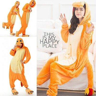 Adult Unisex Pajamas Kigurumi Cosplay Costume Animal Onesie Charmander Sleepwear