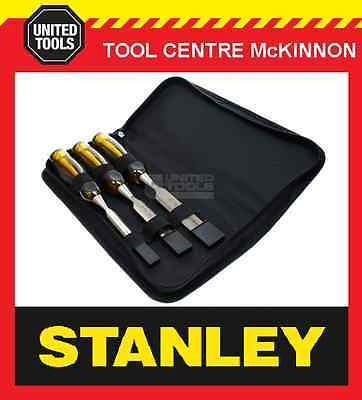 STANLEY FATMAX 3pce THRU-TANG CHISEL SET IN WALLET – MADE IN ENGLAND