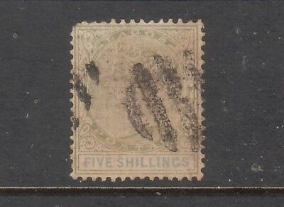 LAGOS....  1887  5/-  green and blue used, Sg40....cv £150