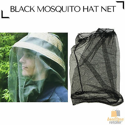 MOSQUITO HAT NET Head Protector Bee Bug Mesh Mozzie Insect Fishing Fly New