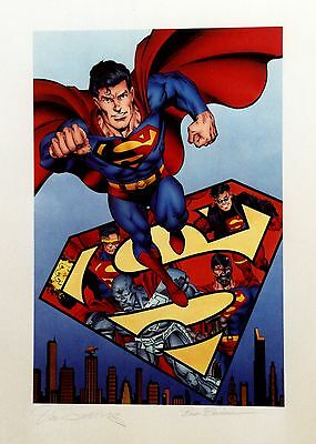 Superman - The Reign Of Superman Lithograph Signed By Breeding And Jurgens