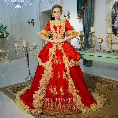 Womens Party Renaissance Queen Court Prom Dresses Ball Gown Antoinette Costume