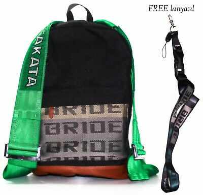 Bride backpack 2016 JDM best sold model with green racing harness Takata bag