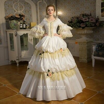 18th Rococo Evening Renaissance Queen Prom Dresses Ball Gown Antoinette Costume