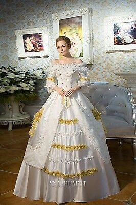 18th Rococo Queen Royal  Prom Marie Wedding Dresses Ball Gown Antoinette Costume