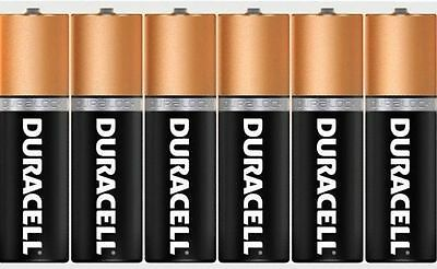 New Pack Of 6 Duracell AA Alkaline Batteries Cell Battery For Toys