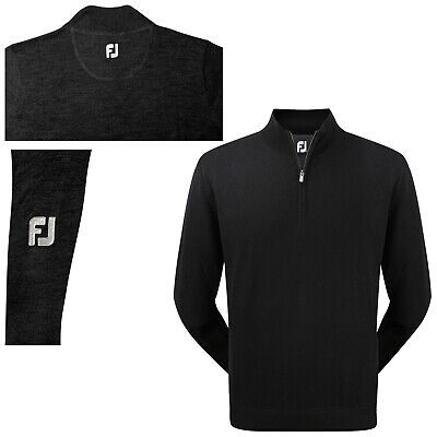 Footjoy Mens Merino Half Zip Top L / Xl - New Fj Wool Golf Pullover Sweater 2015