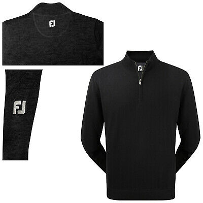 Footjoy Mens Merino Half Zip Top - New Fj Wool Golf Pullover Jumper Sweater 2015