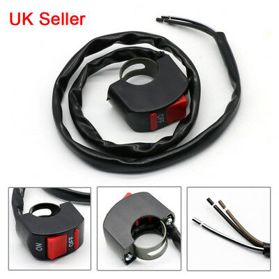 UK New Universal Kill Switch Button Stop 22mm Handlebar For Motorcycle Motorbike