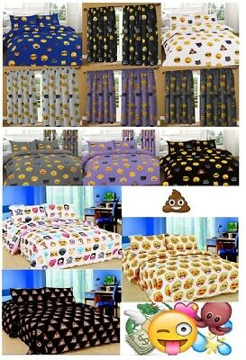Emoji Emotion iPhone Emoticons Smileys Duvet Cover & Pillowcase/s Bedding Set