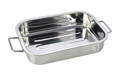 Pendeford Stainless Steel Roasting Cooking Baking Tray 25 x 18cm Chunky NEW