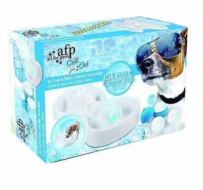 All For Paws AFP Chill Out Ice Track & Thirst Cruncher Balls Cool Water Bowl