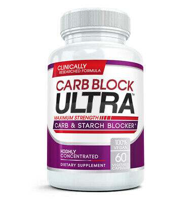 Carb Block Ultra - Highly Concentrated Carb & Starch Blocker (60 Capsules)