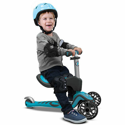 Mookie SmarTrike T1 3 Stage Kids Children Toddler ELC 3 Wheel Scooter New Blue