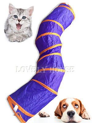 Folding Pet Cat Rabbit Puppy Fun S Tunnel with TWO Holes Pop Out Exercise Toys