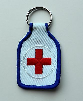 American National Red Cross Emergency Assistance Embroidered Key Chain Key Ring