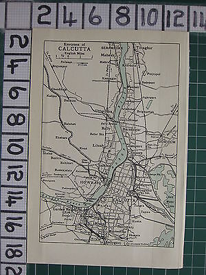1959 India/pakistan Tourist Map ~ Calcutta Environs Howrah Aliporesalkhia