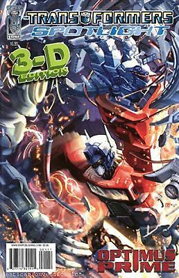 Transformers Spotlight : Optimus Prime 3D One-Shot (Issue 1) - Idw Comics