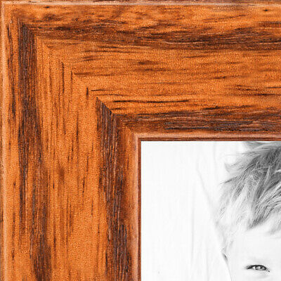 "ArtToFrames Custom Picture Poster Frame Brown Honey on Red Oak .75"" Wide Wood"