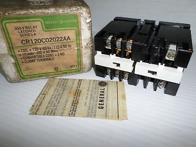New Ge Cr120C02022Aa 300V Relay Latched Series A  ** New In Box ***
