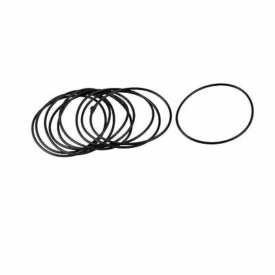 10 Pcs Black 64mm OD 2mm Thickness Nitrile Rubber O-ring Oil Seal Gaskets