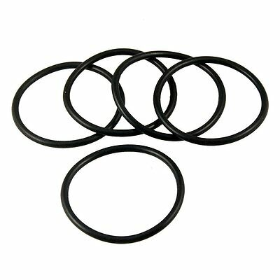 55mm x 48mm x 3.5mm Rubber Sealing Oil Filter O Rings Gaskets 5 Pcs