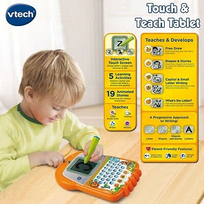 New Genuine Kids Vtech Interactive Touch & Teach Tablet 3-6 Years - Writing Help