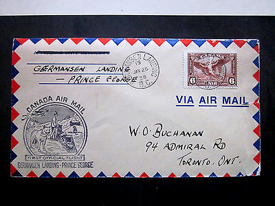Canada 1938 Germanson Landing (1St. Day P.o.opening) Prince George  Dog Sled
