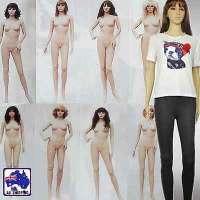 Full Body Mannequin Display w/ Wig 175cm Female Shop Clothes Model WDIS026