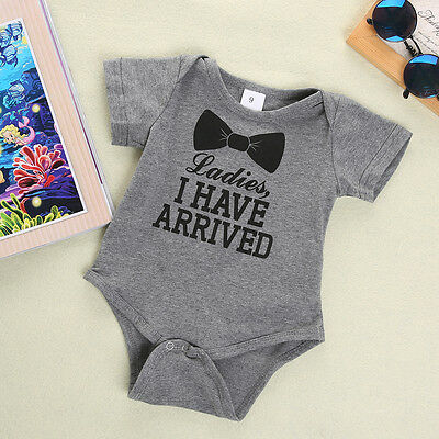 Baby Newborn Boy Girl Kids Short Sleeve Romper Bodysuit Playsuit Outfit Clothes