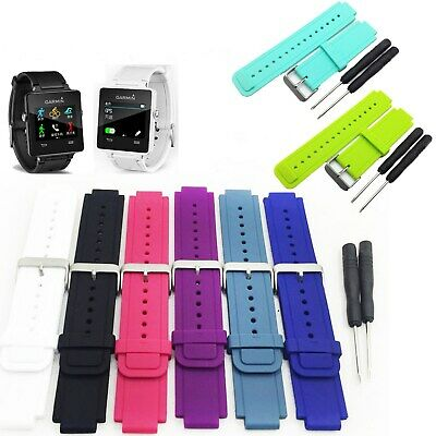 For Garmin Vivoactive Smart Watch Silicone Watch Band Wrist Strap With Tool