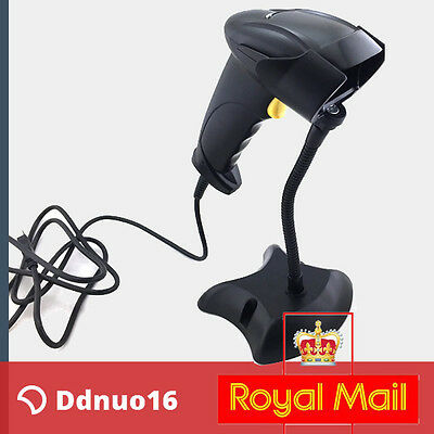 Automatic USB Barcode Scanner Image Reader With Stand Handheld For WinXP/10/7/8