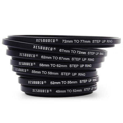 CHIC 7pcs 49-52-55-58-62-67-72-77mm Step Up Rings Lens Adapter Filter Set DC38
