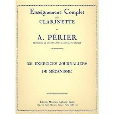 Perier - 331 EXERCICES JOURNALIERS DE MECANISME per clarinetto - Ed. Leduc