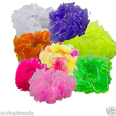 Frilly Ruffled Scrunchie Chiffon Ruched Scrunchies Bobble Ponytail Bun Decor