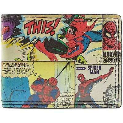 New Official Marvel Comic Style The Amazing Spiderman Bi-Fold Wallet