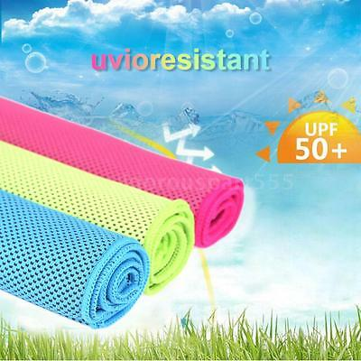 TOMSHOO Travel Cycling Fit Camping Microfiber Towel Chill Heat Relief Towel H0B4