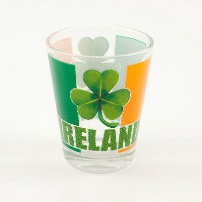 Loose Shot Glass With Tricolour Flag And Shamrock Design