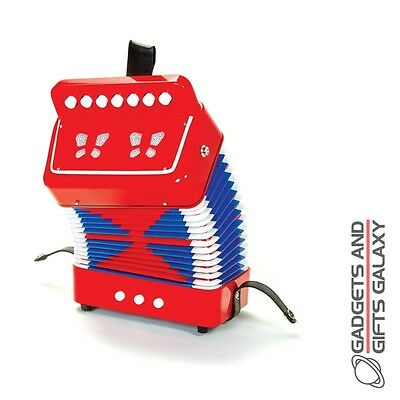 EASY TO PLAY PLASTIC ACCORDIAN TRADITIONAL MUSICAL INSTRUMENT toy gift childs