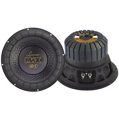 LANZAR MAX12 MaX Power 1000W / RMS 500W SUBWOOFER  BASS 30cm / 300mm